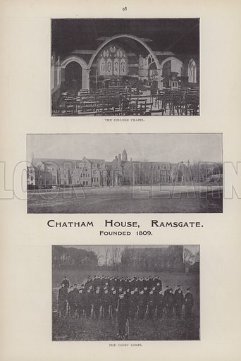 Chatham House School, Ramsgate, Kent. Illustration from Canterbury, Mother-City of the Anglo-Saxon Race (Canterbury Chamber of Trade, 1904).