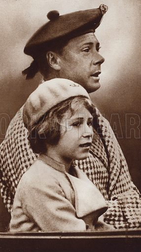 King Edward VIII and his niece, the future Queen Elizabeth II