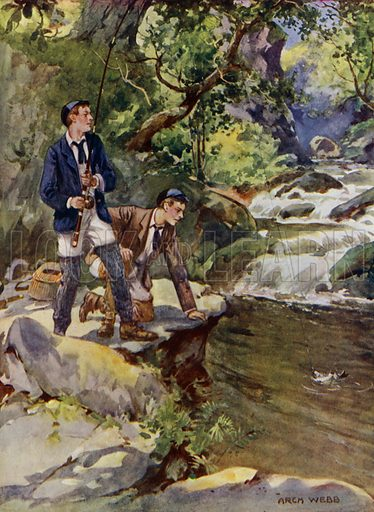Catching a trout