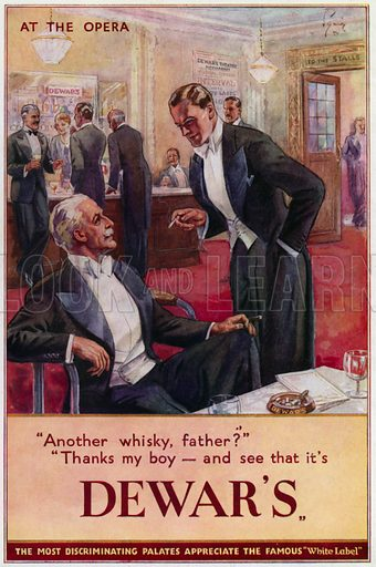 Advertisement for Dewar's Whisky: At The Opera