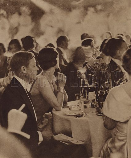 The Prince of Wales and Mrs Simpson at a London cabaret show