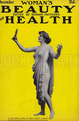 Cover of issue of Woman's Beauty and Health magazine, 1913