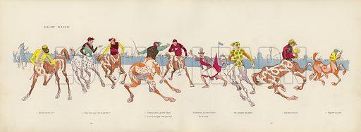 Illustration for Les Courses Dans L