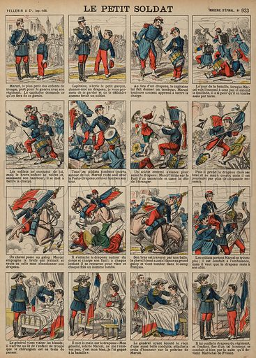 The boy soldier. Print published by Pellerin & Cie, Imagerie D'Epinal, late 19th century.