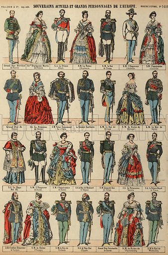 European royalty. Print published by Pellerin & Cie, Imagerie D'Epinal, late 19th century.