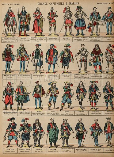 Great military figures. Print published by Pellerin & Cie, Imagerie D'Epinal, late 19th century.