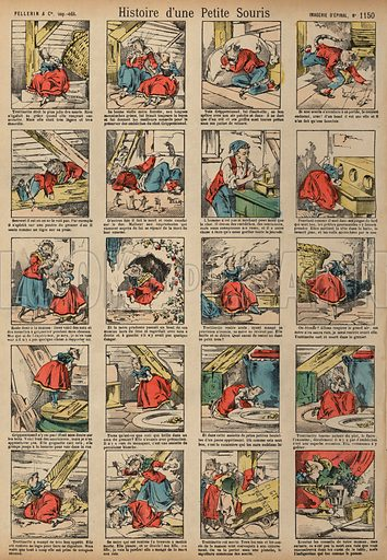 Story of a Little Mouse. Print published by Pellerin & Cie, Imagerie D'Epinal, late 19th century.