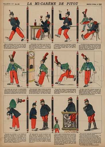 Pitou's Mid-Lent. Print published by Pellerin & Cie, Imagerie D'Epinal, late 19th century.