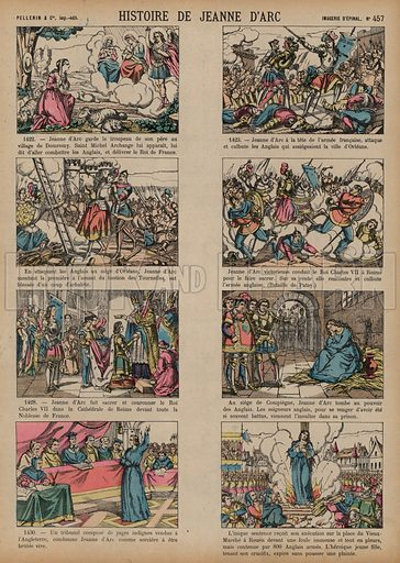 The story of Joan of Arc. Print published by Pellerin & Cie, Imagerie D'Epinal, late 19th century.