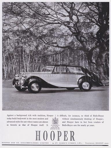 Advertisement for Hooper Rolls-Royce car, c 1944.