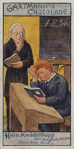 Red Heads.  One of a set of trade cards issued by Gartmann's Chocolade, early 20th century.