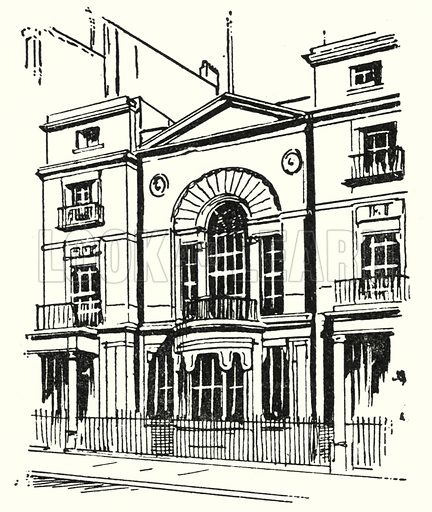 Boodle's Club, London.  Illustration for The Story of Hanoverian and Modern Britain by C W Airne (Thomas Hope and Sankey Hudson, c 1934).