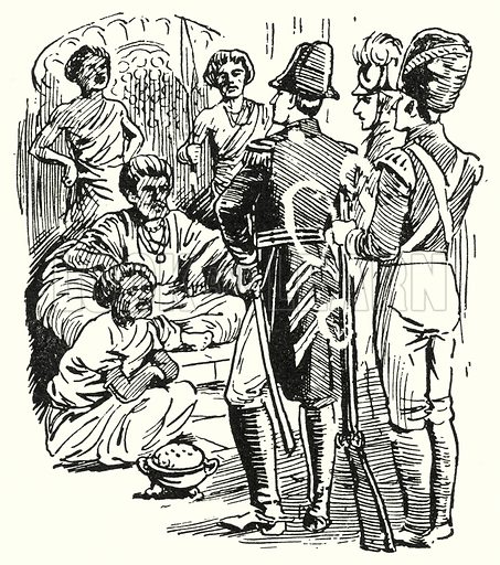 Annexation of Ceylon, 1815.  Illustration for The Story of Hanoverian and Modern Britain by C W Airne (Thomas Hope and Sankey Hudson, c 1934).
