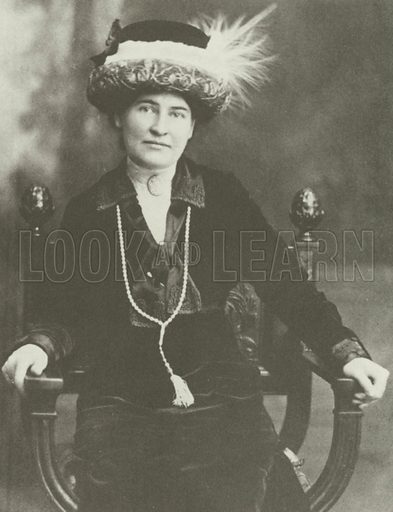 Willa Cather, c 1910.  From later reproduction.