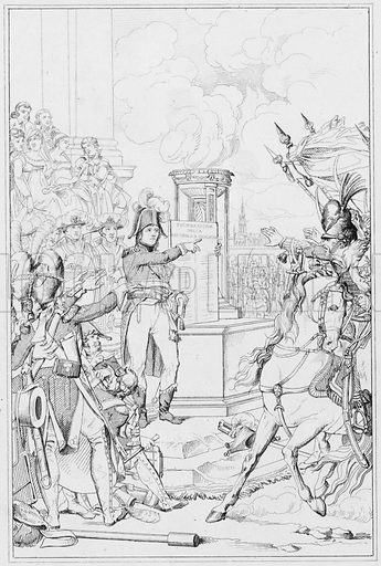 Republique Cisalpine, The Cisalpine Republic.  Illustration for The Napoleon Gallery (Henry G Bohn, 1846).