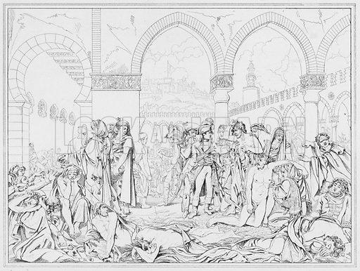 Peste de Jaffa, Plague at Jaffa.  Illustration for The Napoleon Gallery (Henry G Bohn, 1846).