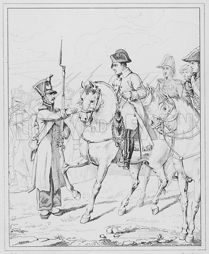 Sire ma mere est vieille et infirme, Sire my mother is an old and infirm woman.  Illustration for The Napoleon Gallery (Henry G Bohn, 1846).