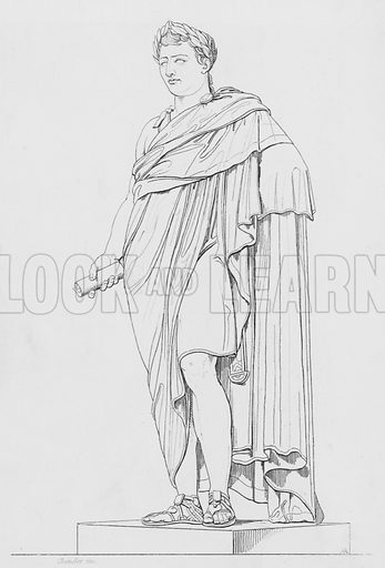 Napoleon.  Illustration for The Napoleon Gallery (Henry G Bohn, 1846).