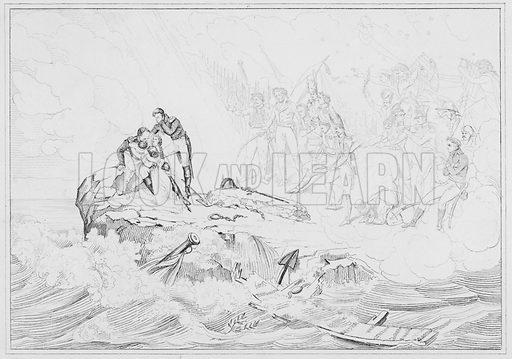 Apotheose, Apotheosis.  Illustration for The Napoleon Gallery (Henry G Bohn, 1846).