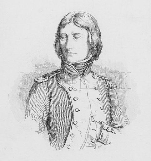 Bonaparte, Lieutenant Colonel au 1er Bataillon se la Corse en 1792.  Illustration for The Napoleon Gallery (Henry G Bohn, 1846).