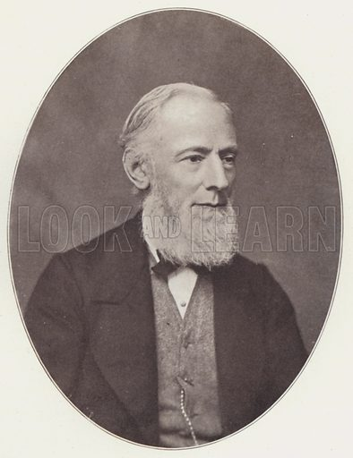Isaac Pitman, 1868, age 55, portrait.  Illustration for The Life of Sir Isaac Pitman, Inventor of Phonography, by Alfred Baker (Pitman, 1908).