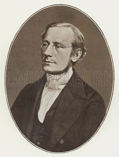 Isaac Pitman, 1859, age 46, portrait.  Illustration for The Life of Sir Isaac Pitman, Inventor of Phonography, by Alfred Baker (Pitman, 1908).