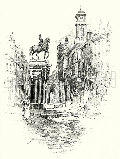 Northumberland House, 1780.  Illustration for The Life of Samuel Johnson by James Boswell (Phoenix Book Company, c 1900).