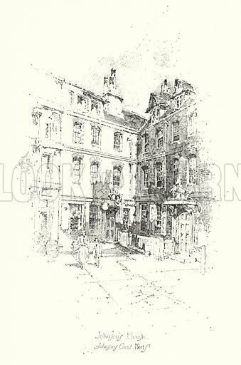 Dr Johnson's House, Johnson's Court, Fleet Street, London.  Illustration for The Life of Samuel Johnson by James Boswell (Phoenix Book Company, c 1900).