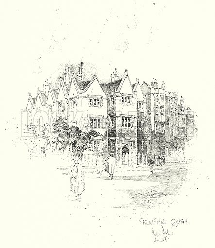 Kettel Hall, Oxford.  Illustration for The Life of Samuel Johnson by James Boswell (Phoenix Book Company, c 1900).