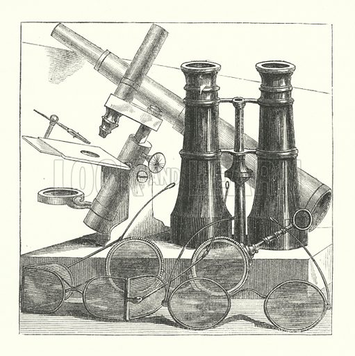 Optics.  Illustration for The Museum of Science and Art edited by Dionysius Lardner (Walton and Maberly, 1854-56).