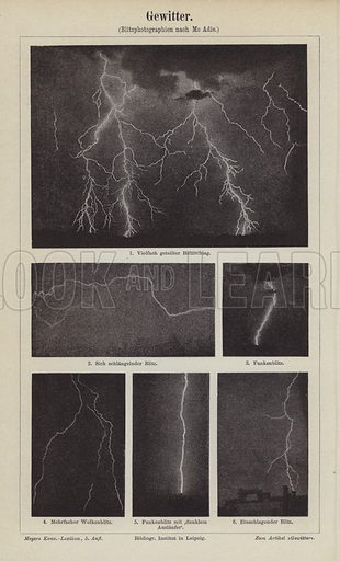 Lightning.  Illustration from Meyer