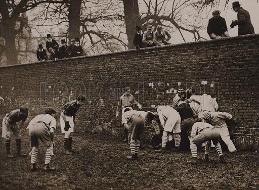 Eton College, Wall game.  Early 20th century.