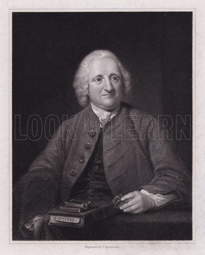 John Dolland, portrait.  From picture in the Royal Observatory, Greenwich.
