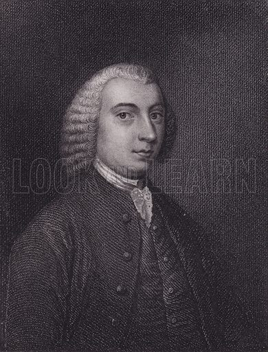 Tobias Smollett, portrait.