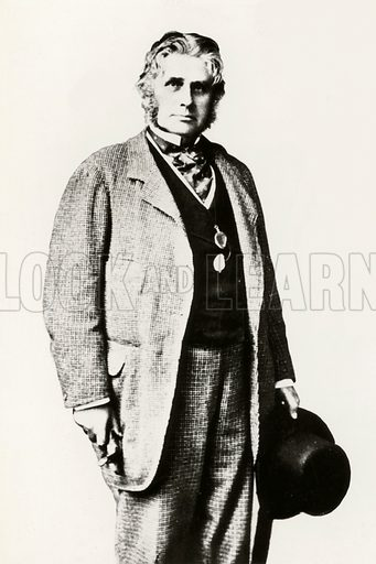 Augustus Henry Lane-Fox Pitt Rivers, portrait.   Note: Photo has had background removed.