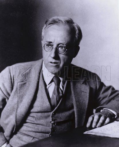 Gustav Holst, composer (1874-1934).  Photo by Elliott & Fry.