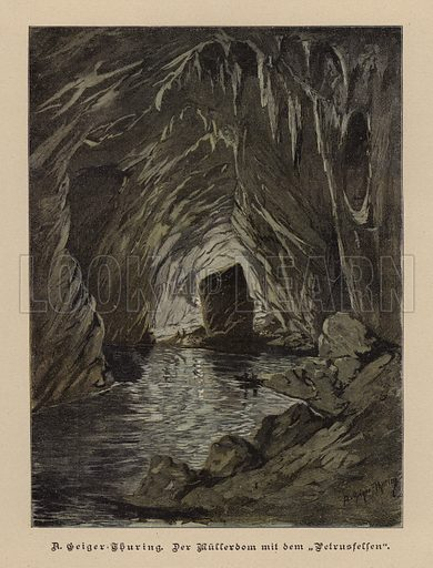 Mullerdom and Petrusfelsen (Muller Hall and St Peter's Rock), Skokjan Caves, Slovenia. Illustration from Zur gute Stunde (Deutsches Verlagshaus Bong & Co, 1895).