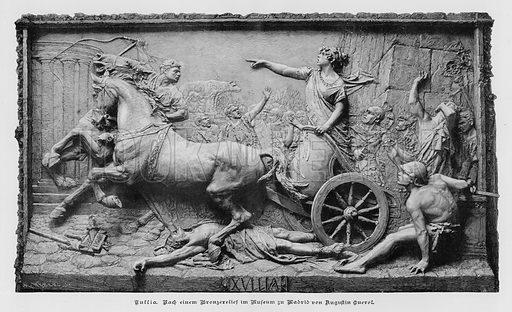 Julia, bronze relief by Spanish sculptor Agustin Querol Subirats. Illustration from Zur gute Stunde (Deutsches Verlagshaus Bong & Co, 1895).