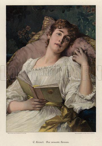 The Latest Novel. Illustration from Zur gute Stunde (Deutsches Verlagshaus Bong & Co, 1895).