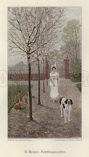 The Magic of Spring. Illustration from Zur gute Stunde (Deutsches Verlagshaus Bong & Co, 1895).