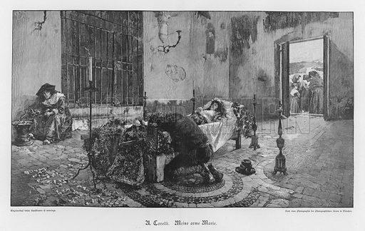 My Poor Marie. Illustration from Zur gute Stunde (Deutsches Verlagshaus Bong & Co, 1895).