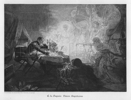 Napoleon's Vision. Illustration from Moderne Kunst in Meister-Holzschnitten (Richard Bong, Berlin, c1904).