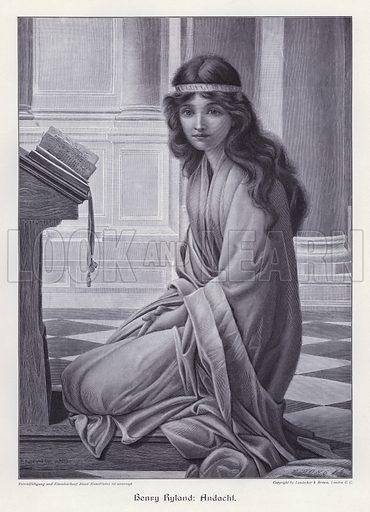 Prayer. Illustration from Moderne Kunst in Meister-Holzschnitten (Richard Bong, Berlin, c1904).