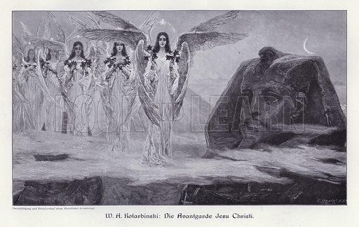 The Advance Guard of Jesus Christ. Illustration from Moderne Kunst in Meister-Holzschnitten (Richard Bong, Berlin, c1904).