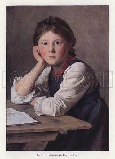 A Child of the Mountains, 1903. Illustration from Moderne Kunst in Meister-Holzschnitten (Richard Bong, Berlin, c1904).