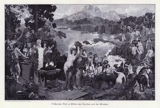 Feast in Honour of Bacchus and Ariadne. Illustration from Moderne Kunst in Meister-Holzschnitten (Richard Bong, Berlin, c1904).