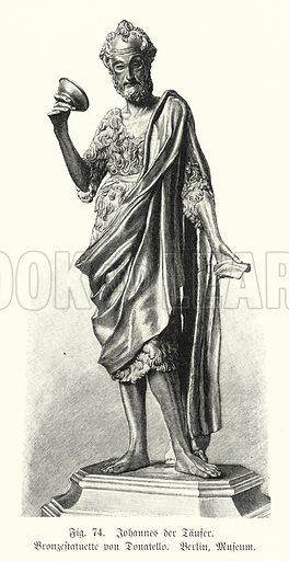 John the Baptist, bronze statue by Donatello. Illustration from Handbuch der Kunstgeschichte, by Anton Springer (E A Seemann, Leipzig, 1895).