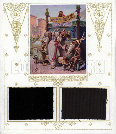 Magic lantern of the High Life Tailor. Illustration from Nos Celebrites Contemporaines, album published for the High Life Tailor shop in Paris, 1909.