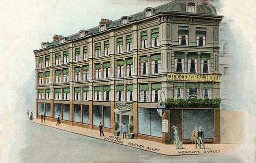 City Central Hotel, London. Postcard, early 20th century.