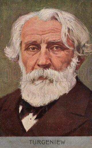 Ivan Turgenev (1818-1883), Russian novelist. Postcard, early 20th century.